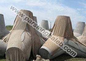 پروژه ساخت قالب تتراپاد (موج شکن) تولید تتراپاد و استقرار آن در دریا، در نیروگاه سیکل ترکیبی پرهسر تالش